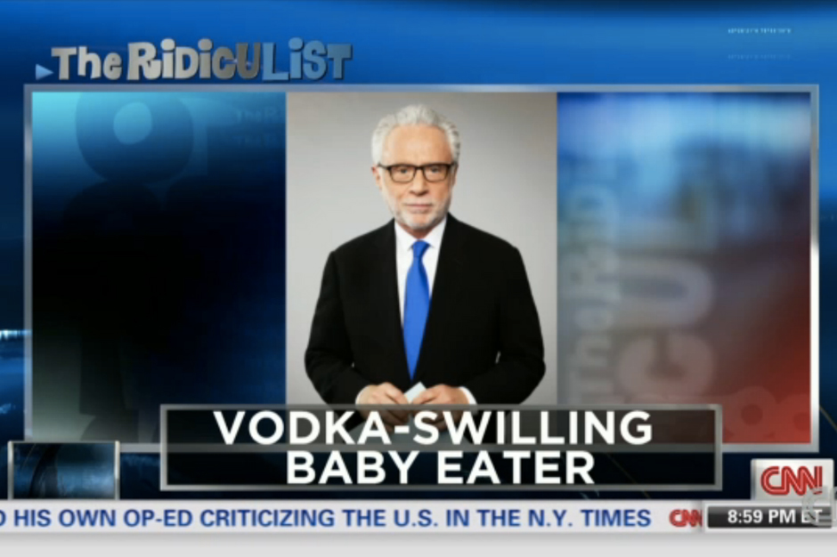 Anderson Cooper Shouts Out Man Man, Calls Wolf Blitzer a Baby-Eater