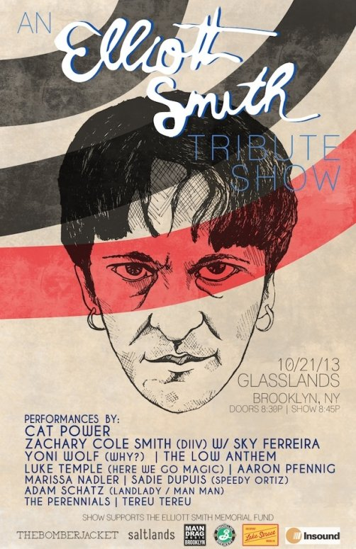 Elliott Smith tribute show poster