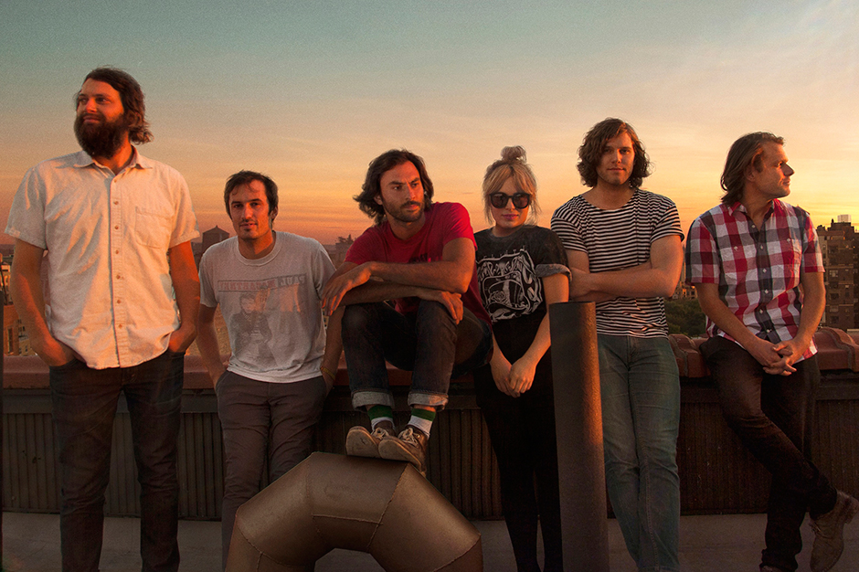 The Head and the Heart (L-R) Chris Zasche, Kenny Hensley, Jonathan Russell, Charity Rose Thielen, Tyler Williams, Josiah Johnson