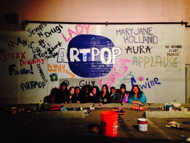 Lady Gaga, 'Artpop,' mural