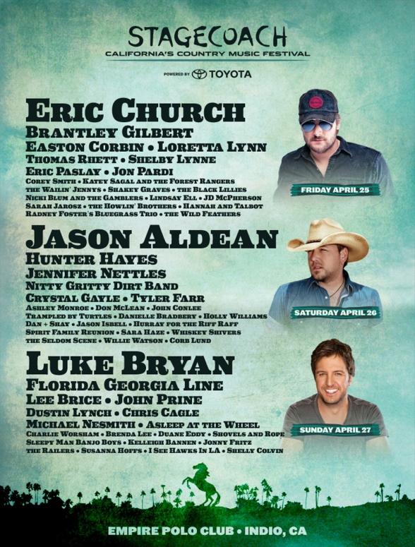 Stagecoach Festival 2014 Lineup: Luke Bryan, Eric Church