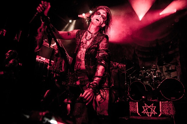 Erik Danielsson of Watain at Irving Plaza, New York City, October 8, 2013  / Photo by Krista Schlueter