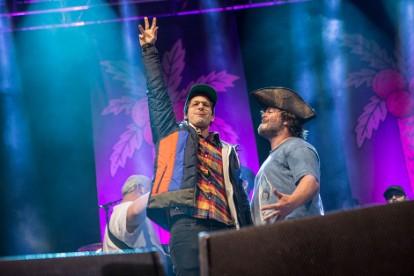 Andy Samberg and Jack Black at Festival Supreme at Santa Monica Pier, CA, October 19, 2013