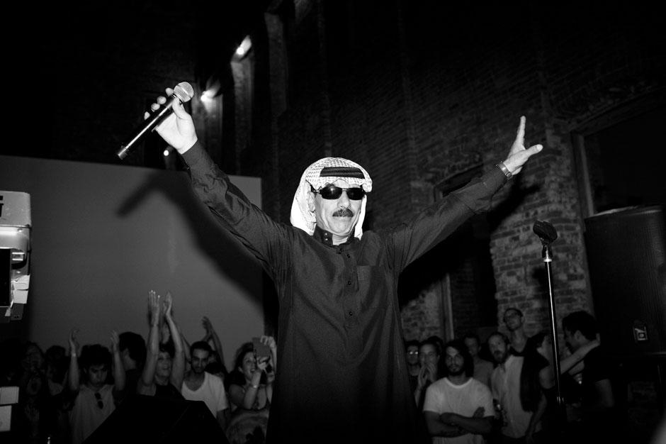 Omar Souleyman at Pioneer Works, Brooklyn, NY, August 2013