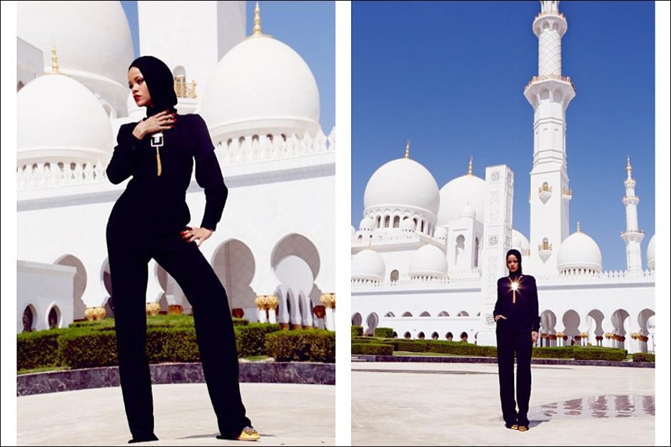 Rihanna Mosque Kicked Out Abu Dhabi Sheikh Zayed Grand