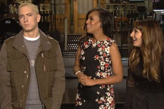 Eminem Is a Wax Figure With Kerry Washington in Awkward 'SNL' Promos