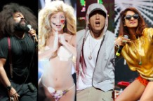 Reggie Watts, Lady Gaga, Eminem, & M.I.A., youtube music awards
