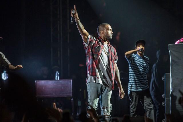 Kanye West at Odd Future Carnival, Los Angeles, November 9, 2013 / Photo by Erik Voake