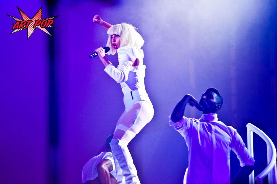 """Lady Gaga at """"artRave"""", Brooklyn, November 10, 2013"""