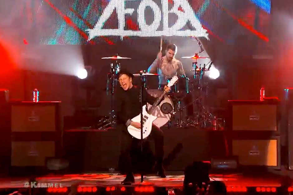 Watch Fall Out Boy 'Save Rock and Roll' With Arena-Rock Twofer on 'Kimmel'