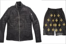 Jay Z Barneys Jacket Coat Leather Crocodile Ski Mask