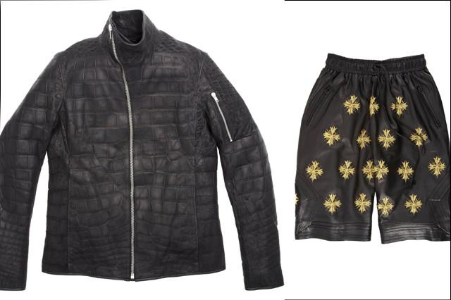 Jay Z Barneys Jacket Coat Leather Crocodile Ski Mask