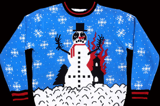 shredders black metal christmas sweater - Metal Christmas Sweater