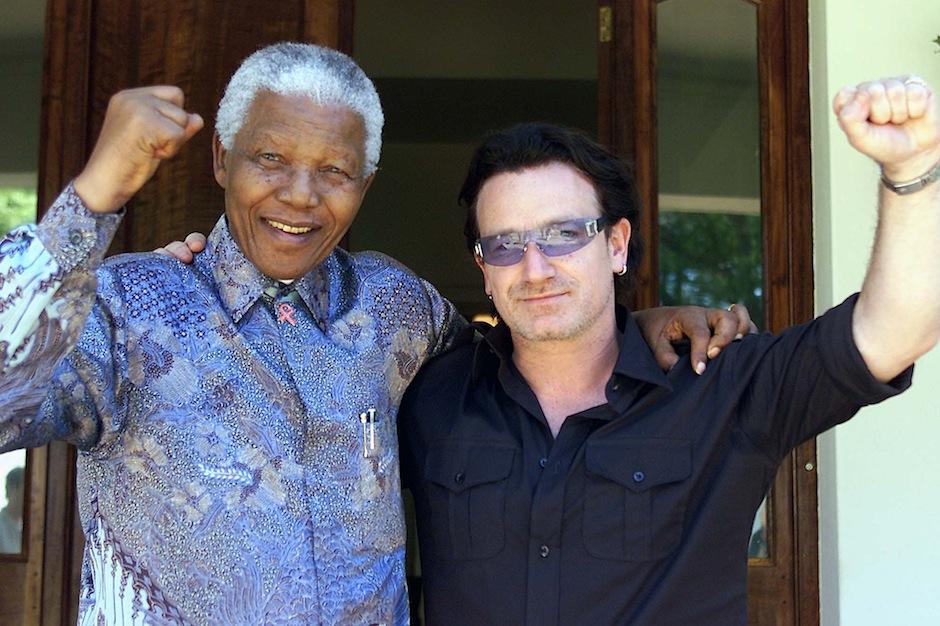 Nelson Mandela, Bono, Aretha Franklin, R. Kelly