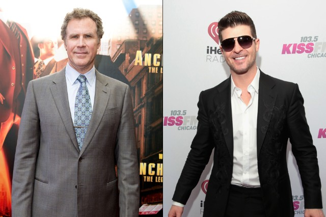 Will Ferrell Robin Thicke Ride Like the Wind Cover Ron Burgundy
