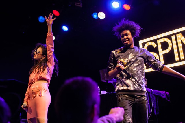 Danny Brown and Charli XCX at SPIN's Year in Music Party, Music Hall of Williamsburg, Brooklyn, December 10, 2013