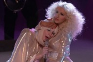 Lady Gaga Serenaded Christina Aguilera's Bosom on 'The Voice'