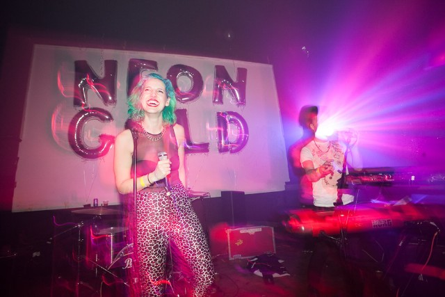 MS MR at Neon Gold's 5 year anniversary at Westway, New York City, December 18, 2013 / Photo by Rebecca Smeyne