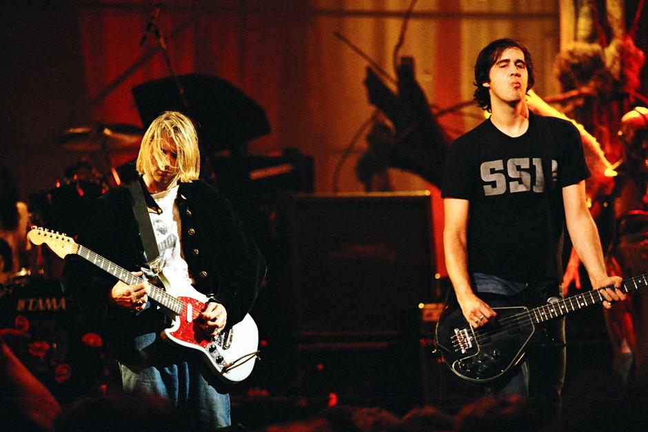 Nirvana's Kurt Cobain and Krist Novoselic on MTV in 1993