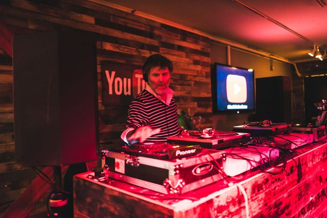 James Murphy at Youtube on Main Street, Park City, Utah, January 18, 2014 / Photo by Loren Wohl