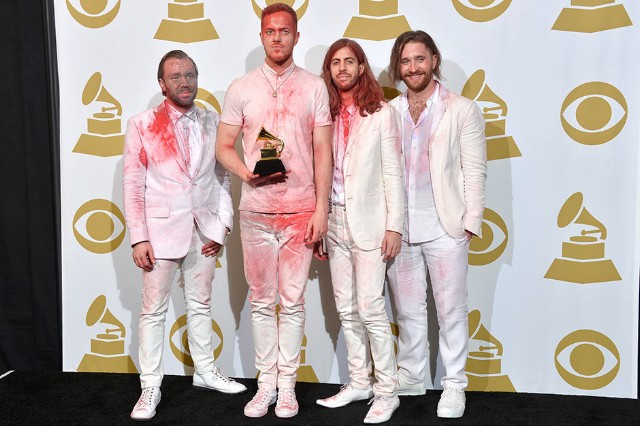 Grammys Backstage Imagine Dragons Queen Latifah Paul McCartney