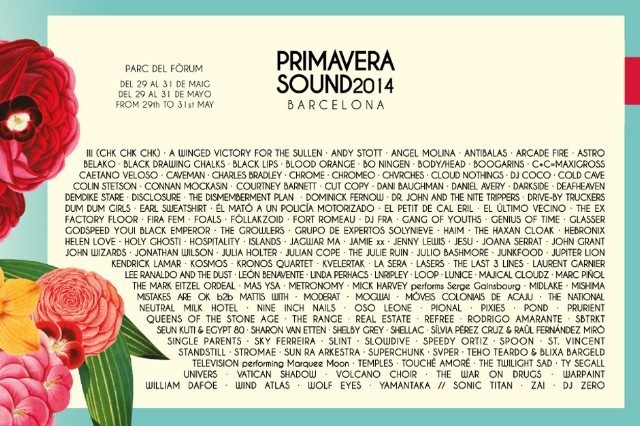 Primavera Sound 2014 Barcelona Lineup Slowdive Nine Inch Nails