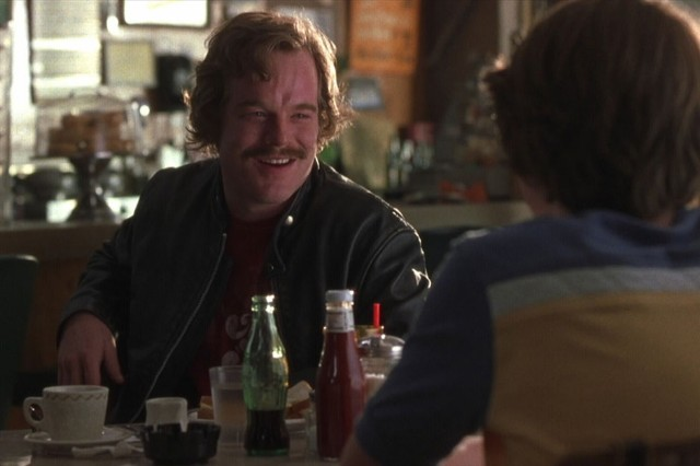 Philip Seymour Hoffman as Lester Bangs in Almost Famous