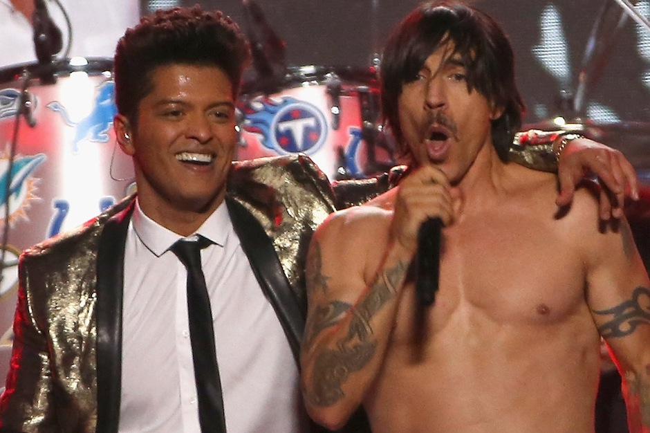 Bruno Mars, Red Hot Chili Peppers, Super Bowl 2014, TV ratings