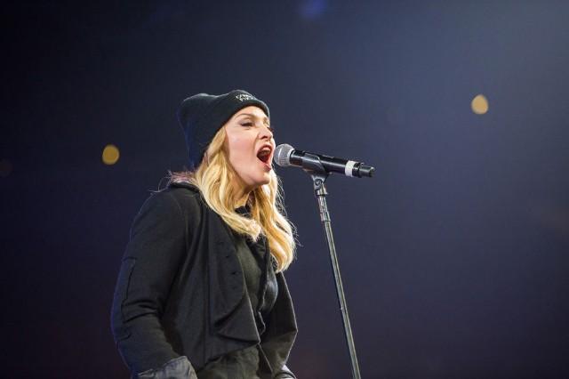 Madonna at Amnesty International Bringing Human Rights Home, Brooklyn, February 5, 2014