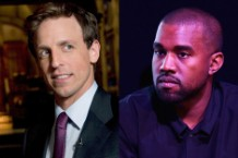 Seth Meyers Kanye West Late Night John Mayer Joe Biden