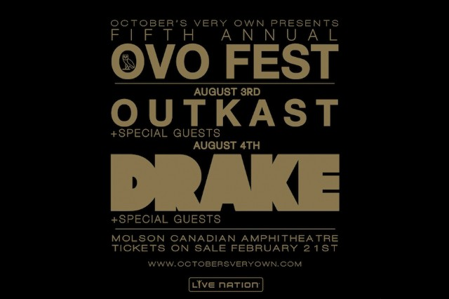 Drake OVO Festival Outkast 2014 Lineup