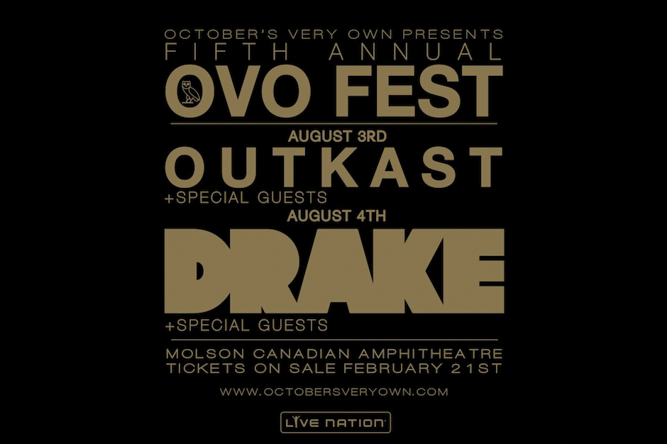 Drake OVO Festival Outkast 2014 Lineup