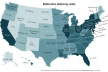 The Echo Nest, state, map, distinctive, famous