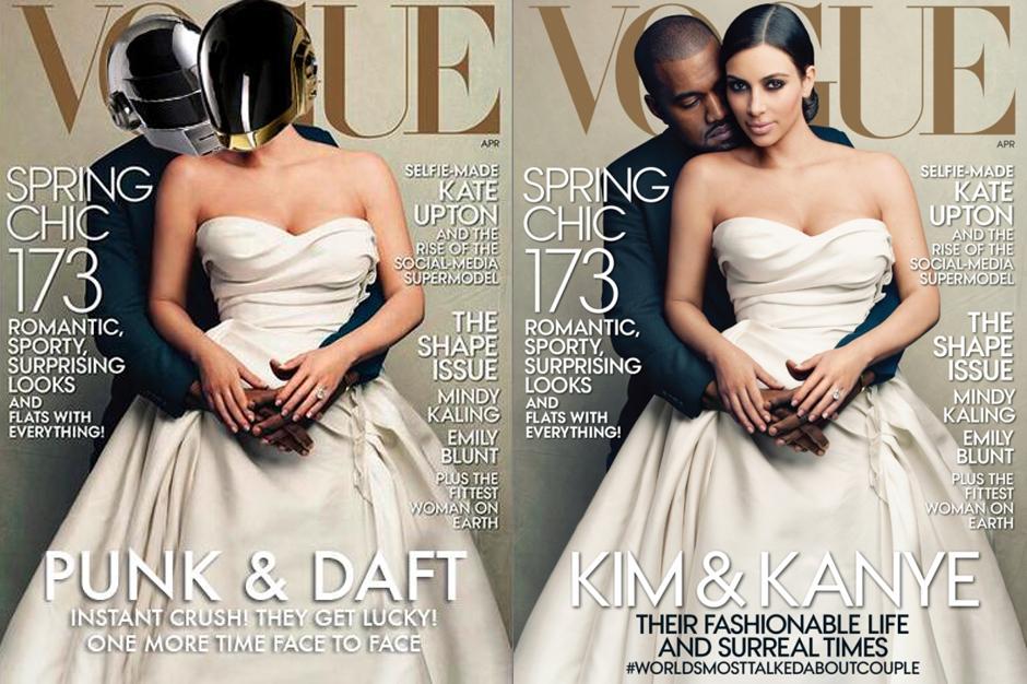 Daft Punk Kim Kardashian Kanye West Vogue Cover Spoof