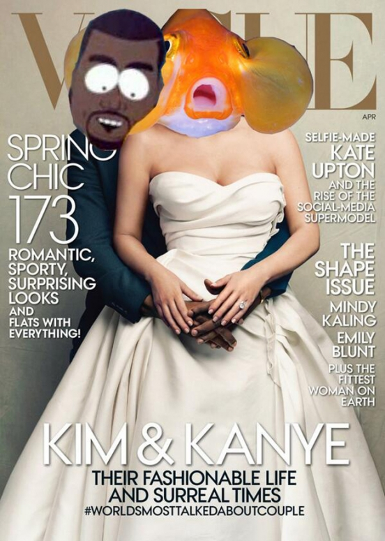 Daft Punk Kim Kardashian Kanye West Vogue Cover Spoof