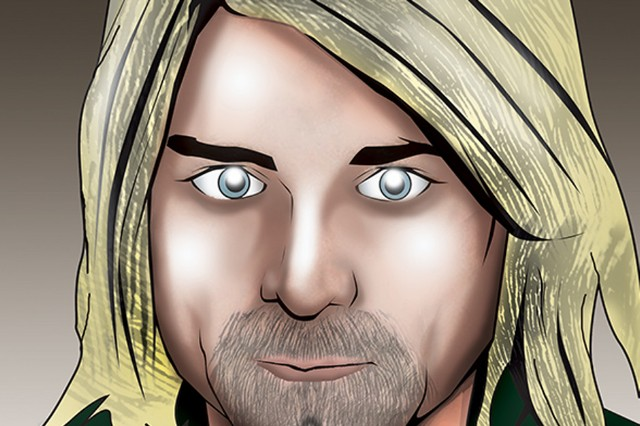 nirvana, kurt cobain, comic book, tribute, bluewater productions