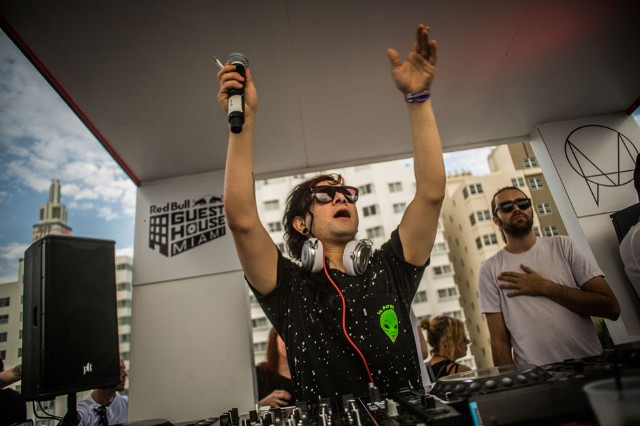 Skrillex at Red Bull Guest House, Winter Music Conference, Miami, March 27-30, 2014 / Photo by Ian Witlen