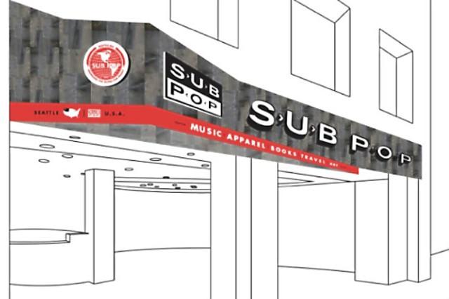 Sub Pop Airport Store Sea-Tac