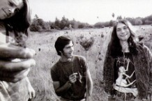 Nirvana in utero, circa 1989. from left: Chad Channing, Chris Novoselic, and Kurt Cobain.