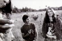 Nirvana in utero, circa 1989. from left: Chad Channing, Chris Novoselic, and Kurt Cobain.
