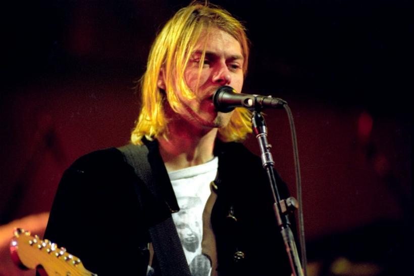 Kurt Cobain and guitar