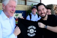 Bill Clinton Is Really Stoked About This Linkin Park Shirt
