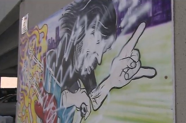 Dave Grohl Alley, vandal, spraypaint,