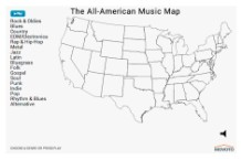interactive map, genre, region, All-American Music Map, Movoto
