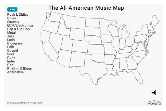 Interactive Map Shows Americas Music Preferences by Genre  SPIN