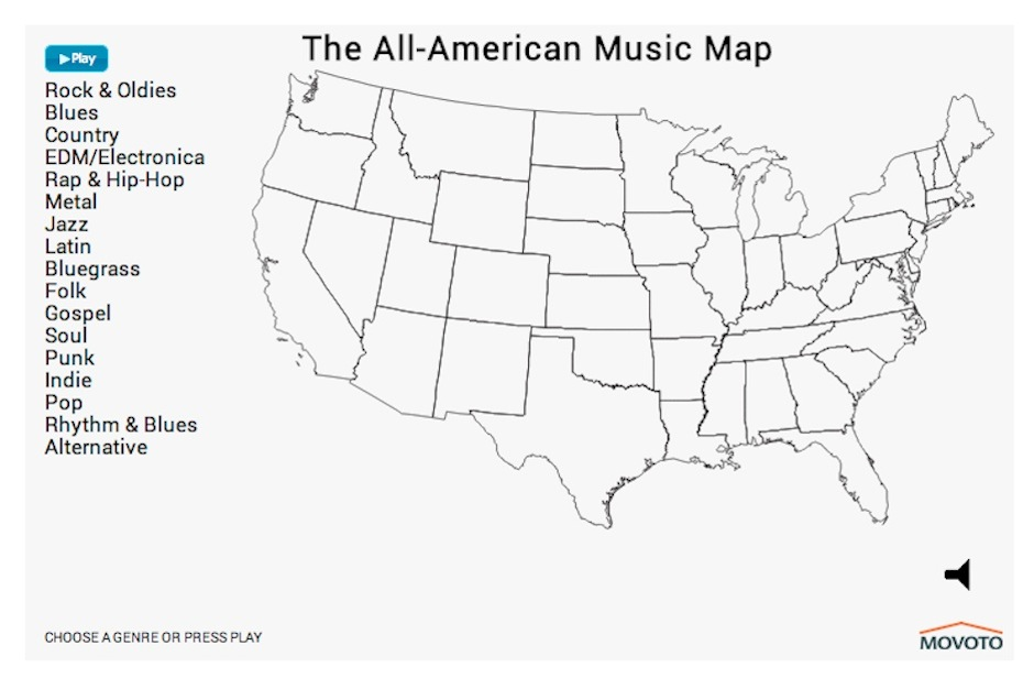 interactive map shows america s music preferences by genre spin