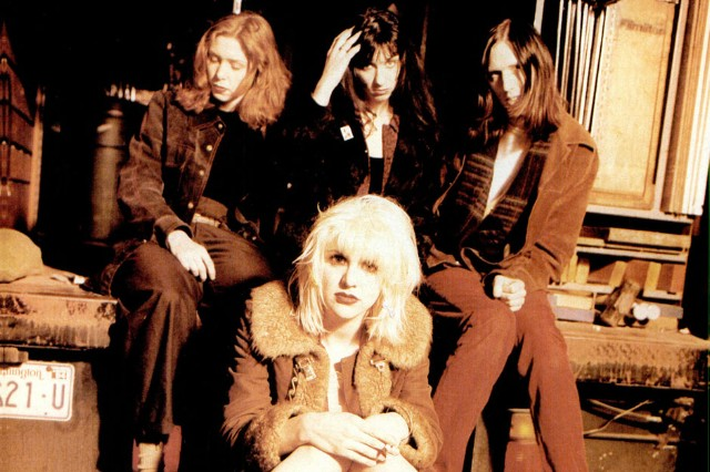 Patty Schemel, Courtney Love, Kristen Pfaff, and Eric Erlandson in Seattle, 1994