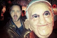 Aaron Paul Played the Pope in Arcade Fire's Coachella Set