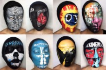 face paint, album covers,