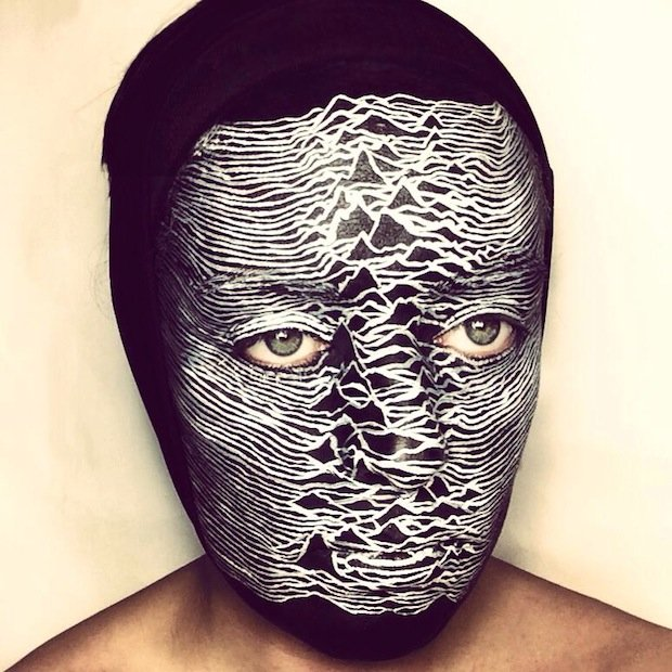 Joy Division, 'Unknown Pleasures,' face paint